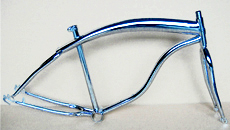 "chrome color 26""woman beach cruiser bike frame"