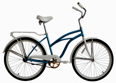 "26""lady beach cruiser bicycle"