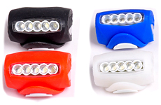 5 LED Bicycle Bike Frog Rear Head Light Lamp