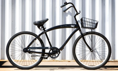 beach cruiser bicycle without fender and basket